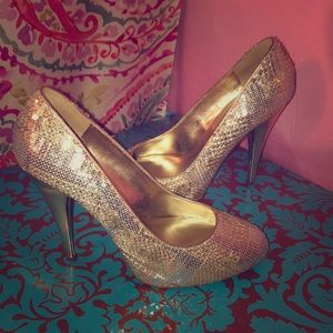 Sequin high heels